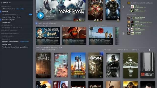 Primeras imágenes y detalles de la nueva librería de Steam