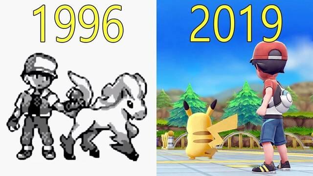 La evolución gráfica de la saga Pokémon de 1996 a 2019