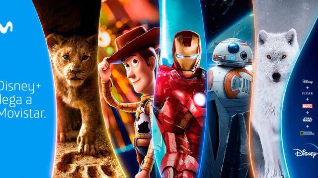 Disney+ llega a España con Movistar y diferentes packs