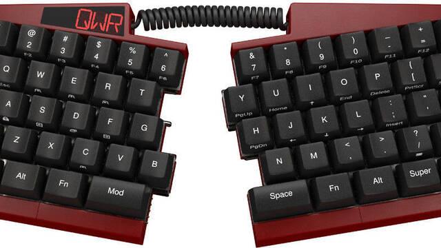 Ultimate Hacking Keyboard, el nuevo teclado partido por la mitad que mejora la productividad