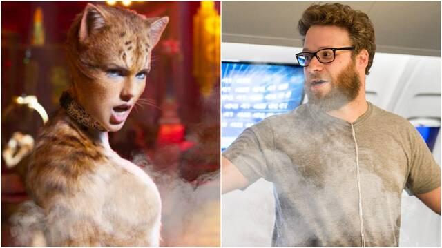 Seth Rogen se pone a ver Cats drogado y lo comenta por Twitter