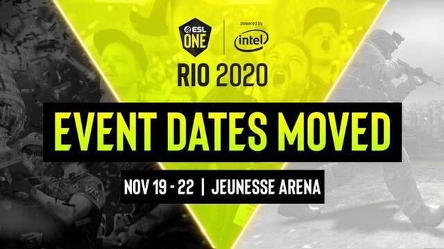 ESL One Rio, el Major de CS:GO, se celebrará en noviembre por el coronavirus