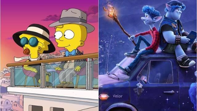 Los Simpson disfrutarán de un corto al principio de Onward de Pixar