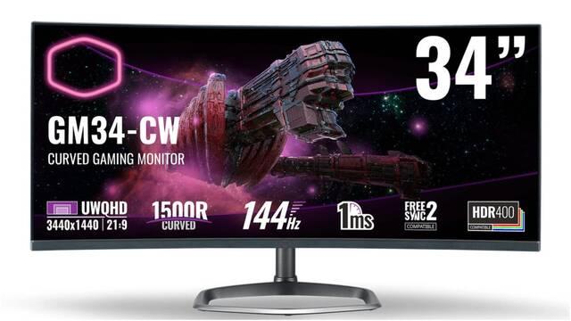 Cooler Master GM34-CW, el nuevo monitor curvo para jugar de 34 pulgadas, 1440p y 144 Hz