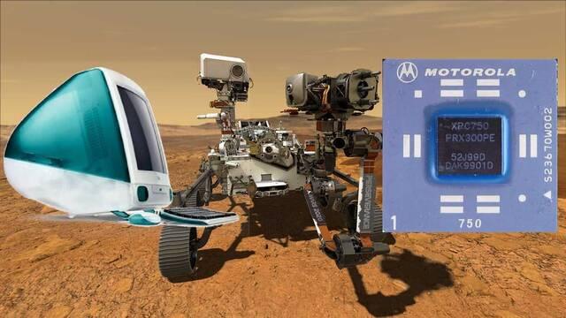 El Rover Perserverance de la NASA usa el procesador de un iMac de 1998