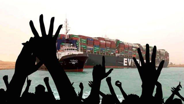 Canal de Suez: Consiguen desencallar el barco atrapado