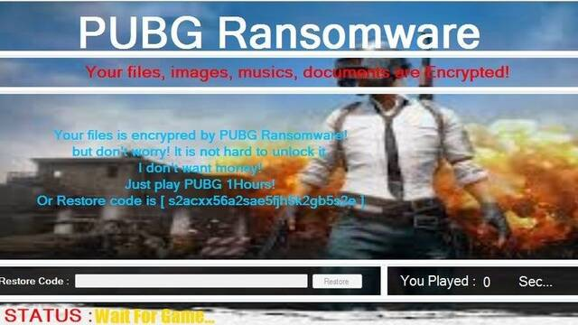 Un ransomware te obliga a jugar a PUBG para desbloquear tus archivos
