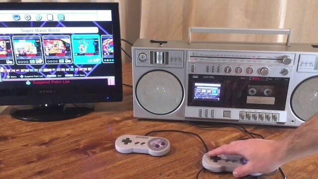 Transforman un radiocasete de los 80 en una SNES mini portátil