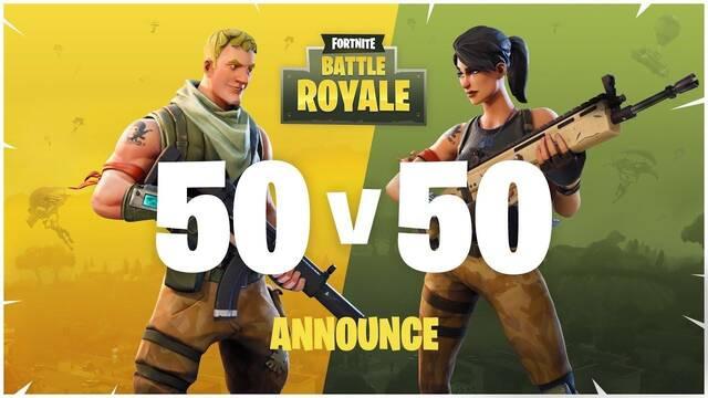 Fortnite volverá a incluir el modo 50 Vs. 50