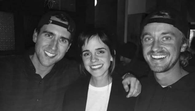 Hermione, Draco y Neville Longbottom tienen una 'mini Potter-reunión'