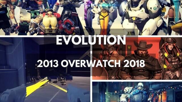 Así han evolucionado los gráficos de Overwatch del 2013 al 2018