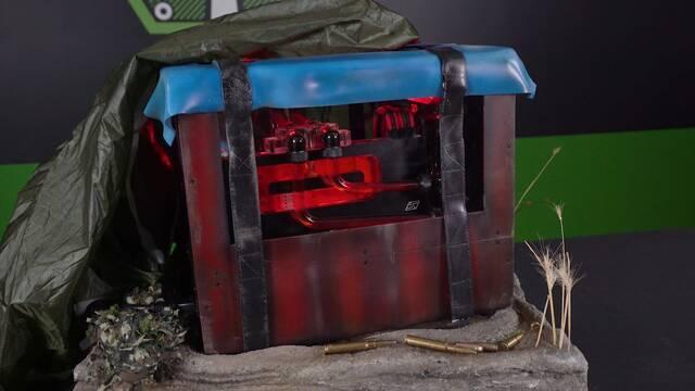 Así es el PC… ¡con forma de la caja roja de suministros de PUBG!