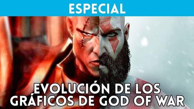 La evolución gráfica de Kratos de God of War del 2005 al 2018