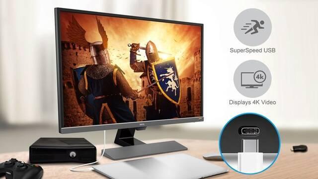 Sale a la venta el BenQ EW32470U, un monitor 4K HDR a precio económico