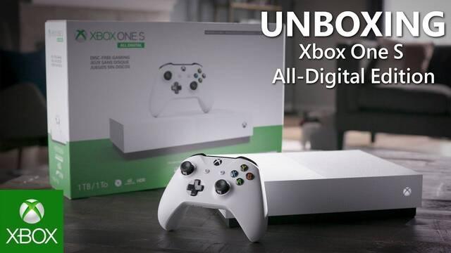 Unboxing de la Xbox One S All Digital Edition