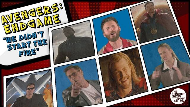El reparto de 'Vengadores: Endgame' canta 'We Didn't Start The Fire'