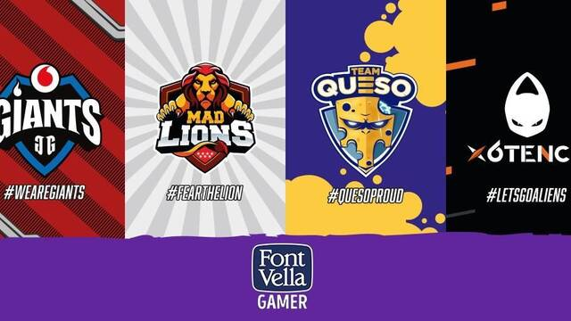 Font Vella lanzará botellas de MAD Lions, x6tence, Vodafone Giants y Team Queso