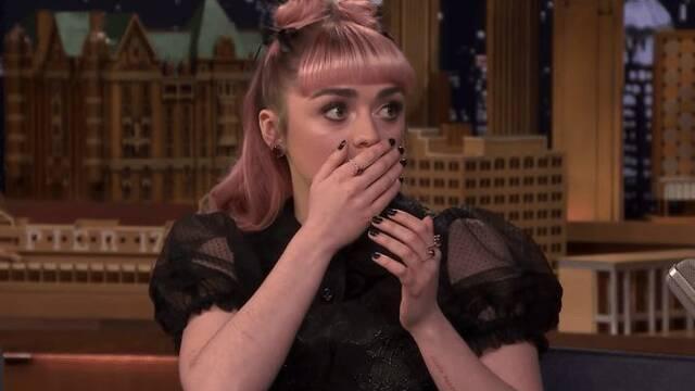 Maisie Williams se divirtió soltando un 'spoiler' de 'Juego de Tronos'