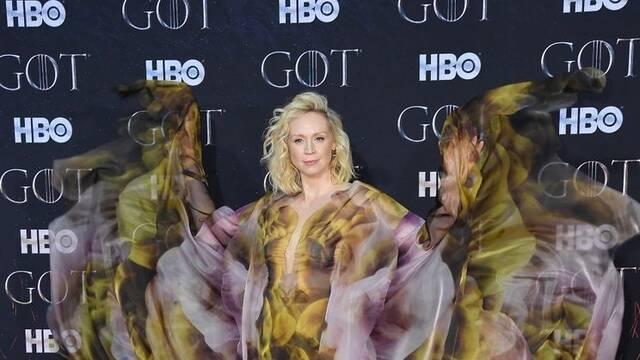 Gwendoline Christie, Brienne, sorprende en la premiere de Juego de Tronos