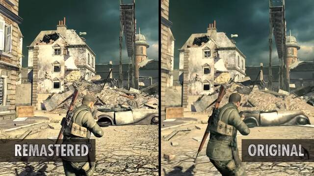 Comparativa gráfica: Sniper Elite V2 VS.  Sniper Elite V2 Remastered