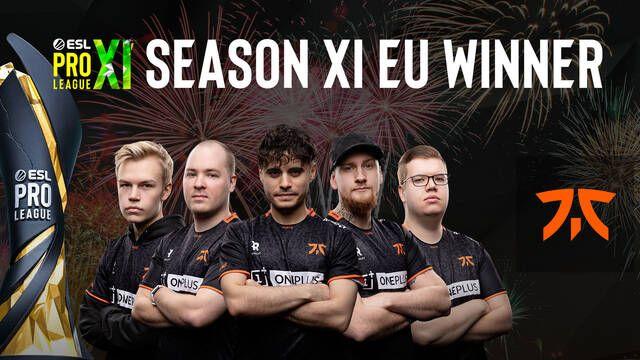 Fnatic vence a mousesports para ganar la ESL Pro League Season 11 en Europa
