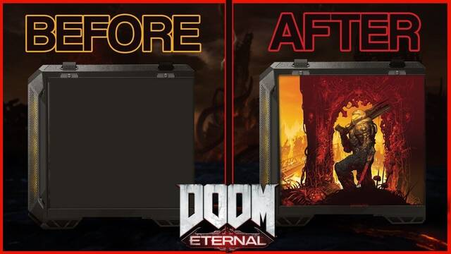 Así es el impresionante chasis ASUS TUF pintado con motivos de Doom Eternal