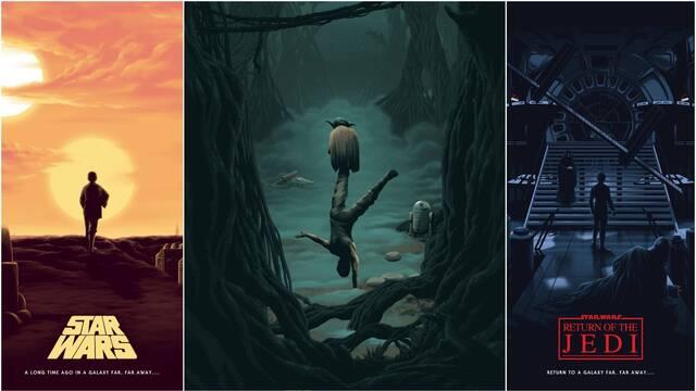 Star Wars: La trilogía original recibe estos tres preciosos pósters