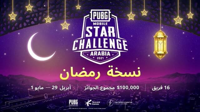 Tencent anuncia el PUBG Mobile Star Challenge Arabia 2021 con 100.000 $ en premios