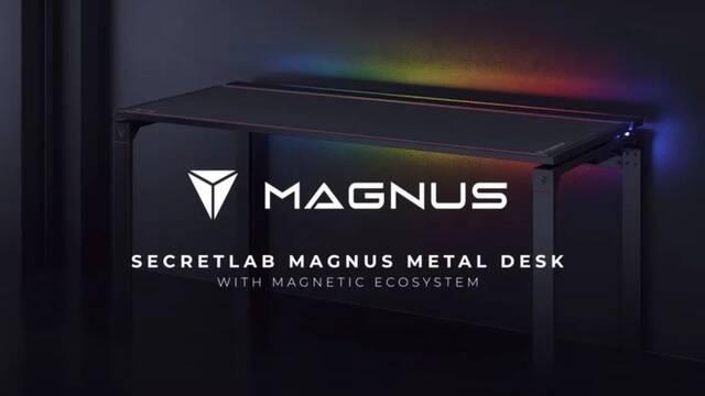 Secretlab presenta su nueva mesa para jugar con accesorios magnéticos e iluminación RGB