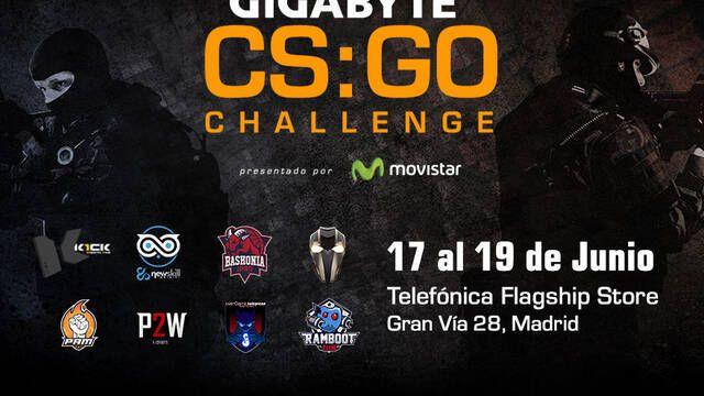 El Gigabyte CSGO Challenge reunirá a los mejores equipos de España