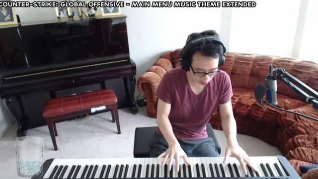 Así suena la canción de CS:GO interpretada con un piano durante un streaming