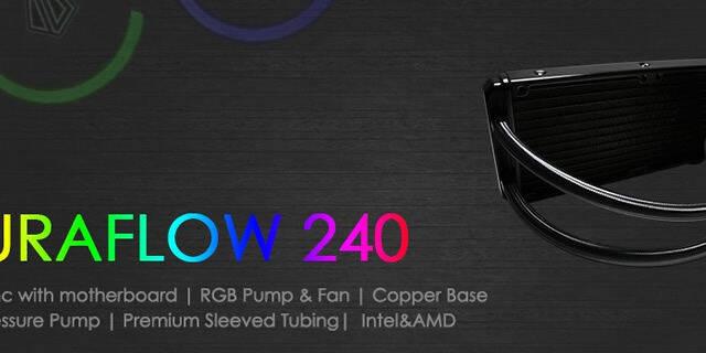 ID-Cooling anuncia AURAFLOW 240, un kit de refrigeración líquida con iluminación LED RGB