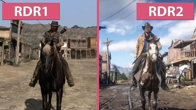 Red Dead Redemption se enfrenta a Red Dead Redemption 2 en esta comparativa gráfica