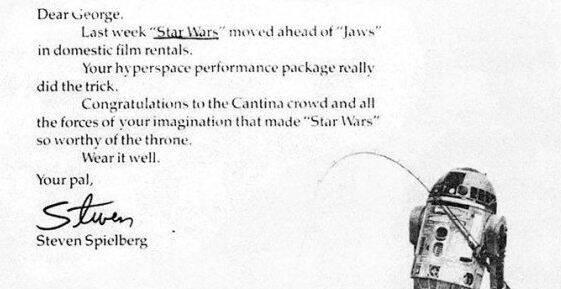En los 70 Spielberg felicitó a George Lucas por el triunfo Star Wars