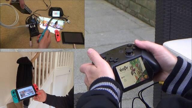 Un abrigo con proyector para jugar con Switch con pantalla grande en cualquier lugar