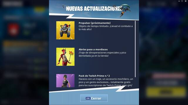 Los jetpacks llegan a Fortnite Battle Royale