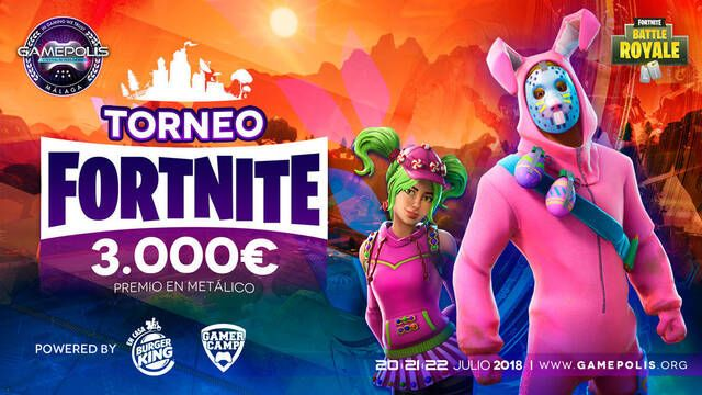 Gamepolis presenta su torneo de Fortnite con 3000 euros en premios