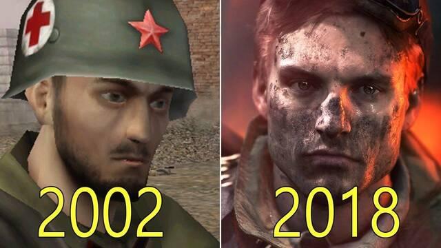 La evolución gráfica de Battlefield del 2002 al 2018