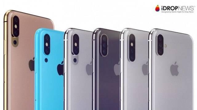 Los iPhone tendrán triple cámara y pantalla OLED en 2019