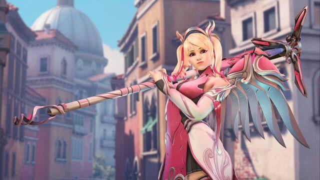 Mercy Rosa, la nueva skin de Overwatch que ayudará a la lucha contra el cáncer