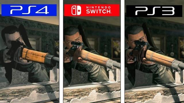Comparativa gráfica: Sniper Elite V2 vs. Remastered en PS4 y Switch