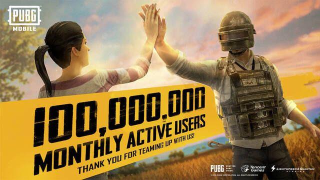 PUBG Mobile supera los 100 millones de jugadores mensuales