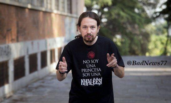 Pablo Iglesias la lía en Twitter con sus paralelismos con Juego de Tronos