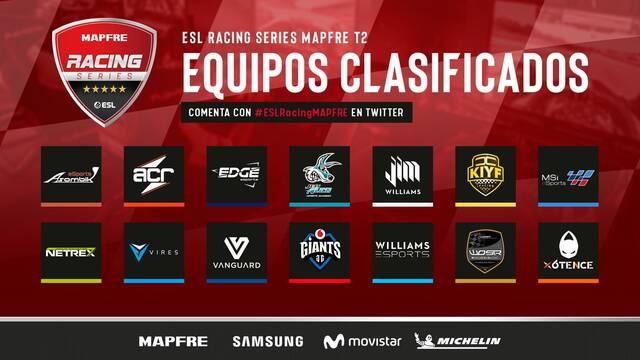 Comienza la fase regular de la ESL Racing Series MAPFRE – T2