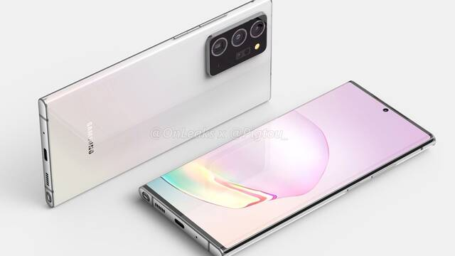 Primeros renders del Samsun Galaxy Note20+, el nuevo tope de gama de Samsung