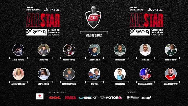 Gran Turismo All Star confirma a todos los pilotos que correrán con Carlos Sainz a la cabeza