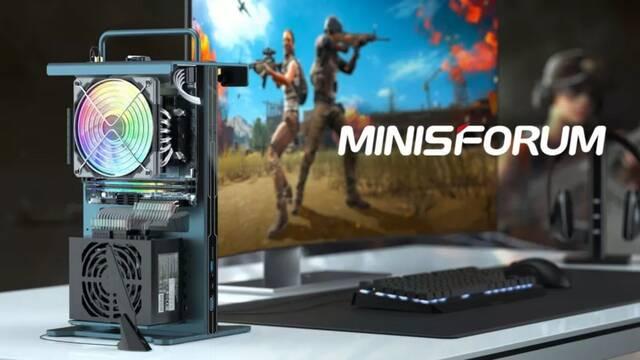 Minisforum presenta GameMini, su nuevo PC de tamaño reducido y con chasis abierto