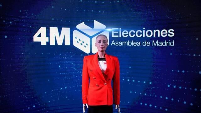 Robot Sophia: Así es el avanzado androide que dará los datos de las elecciones en Madrid
