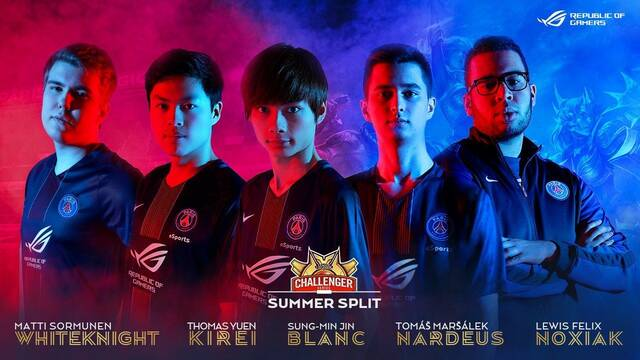 El PSG cierra su equipo de League of Legends con Nardeus y Noxiak