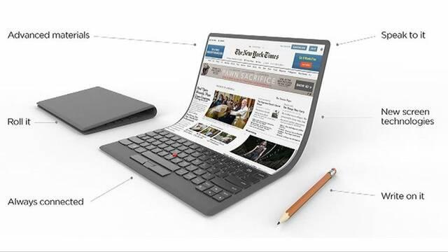 Lenovo sorprende al mundo con su nueva idea de  un portátil que se doble como una hoja de papel